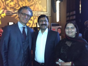 with Malala's parents